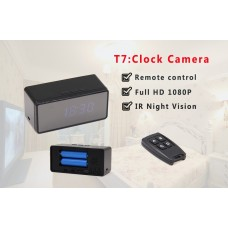 Table Clock Camera with Remote Control - Full HD Recording